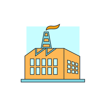 manufacturing plant: plant icon