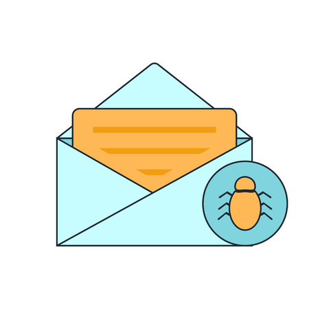 spam mail: spam virus in mail icon