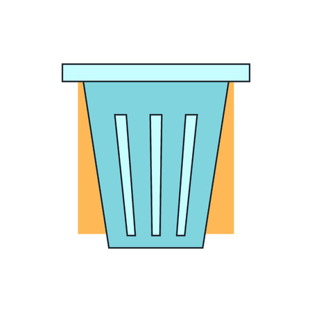 corporate waste: trash can icon