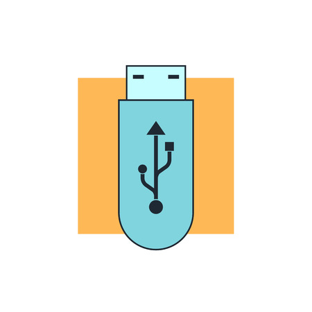 usb flash memory: usb flash icon