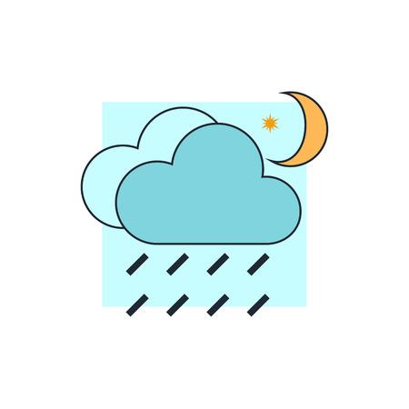 rain cloud: rain cloud moon icon