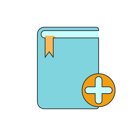 electronic publishing: add book icon