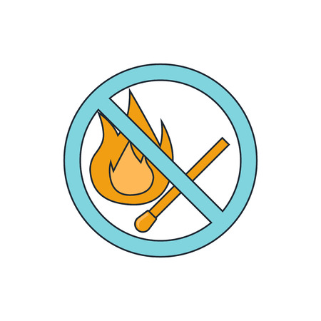 forewarning: no fire sign icon Illustration