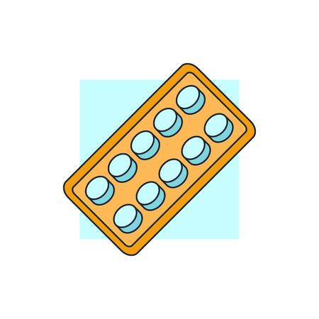 pastillas: pastillas blister pack de iconos