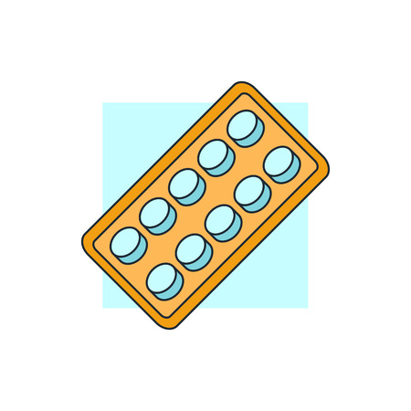 pharmacy pills: pills blister pack icon