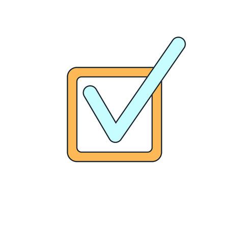 check icon: check mark icon Illustration