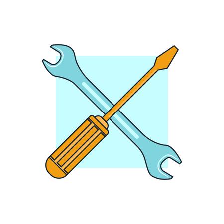herramientas de trabajo: icono de herramientas