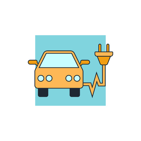 electro: electro car icon Illustration