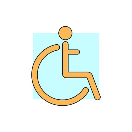 discapacidad: Icono Muestra lisiada