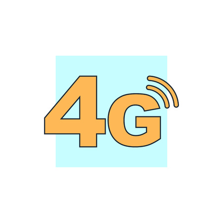 4g: 4g mode technology icon