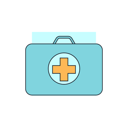 the first: first aid box icon