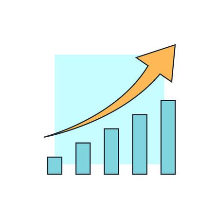 demografia: diagram up icon