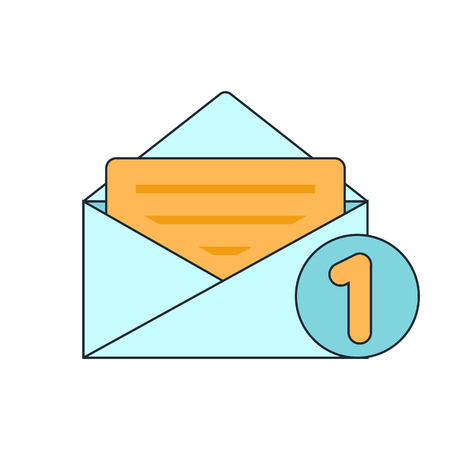 spamming: new mail icon Illustration