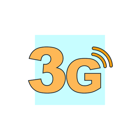 3g: 3g mode technology icon Illustration