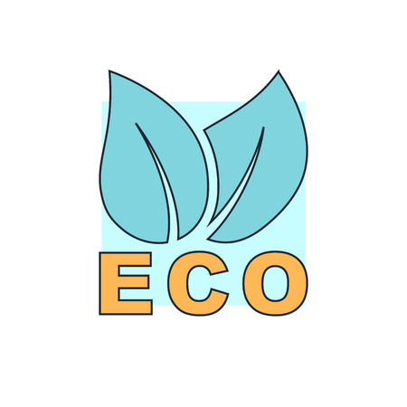 eco green: leaves eco icon Illustration
