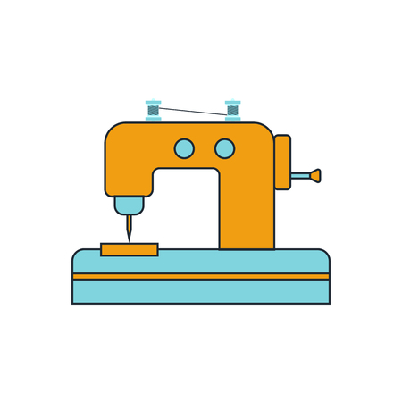 sewing accessories: Sewing Machine icon Illustration