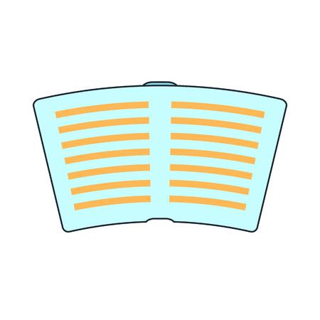 epublishing: open book icon Illustration