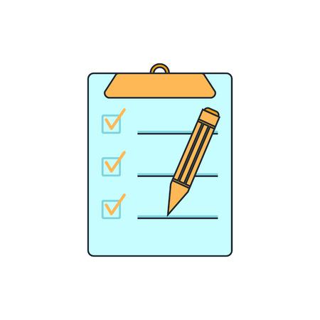 include: clipboard, list icon Illustration
