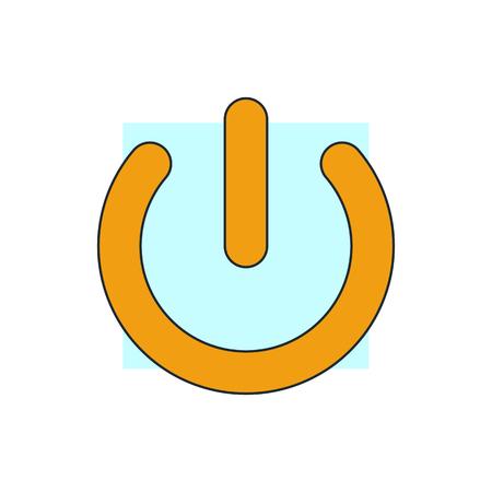 energia electrica: botón de encendido icono