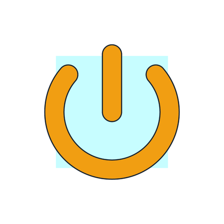 control power: power button icon