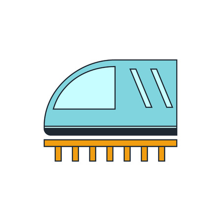 tren: icono de signo de tren Vectores