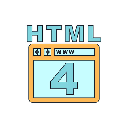 html: HTML 4 icon Illustration