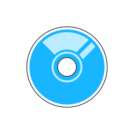 cd r: CD or DVD icon Illustration