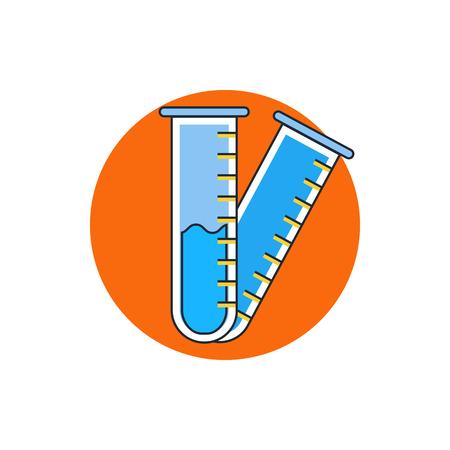 hypothesis: test-tube icon Illustration