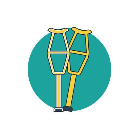 crutch: crutch icon Illustration