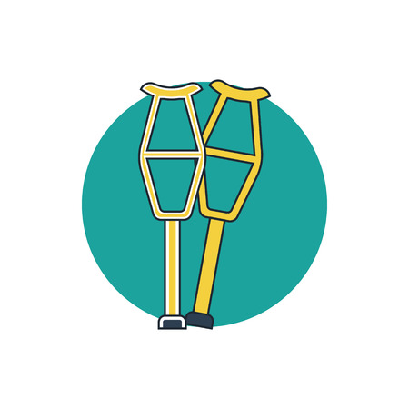 crutch icon Illustration