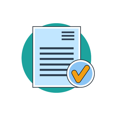 document icon: select document icon Illustration