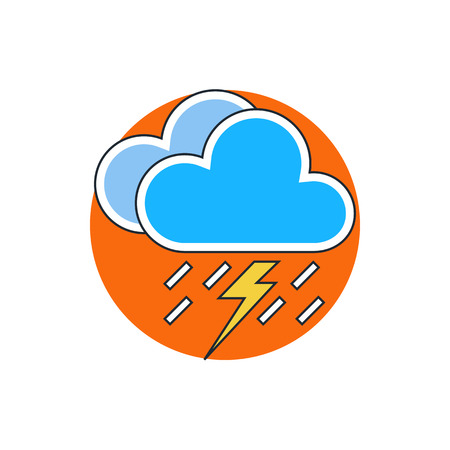 meteo: lightning rain cloud meteo icon