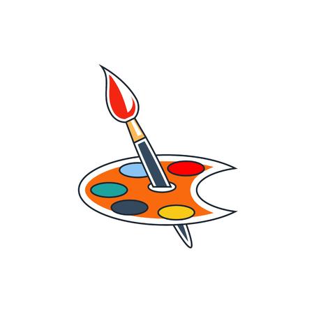 Icono del cepillo de pintura Ilustración de vector