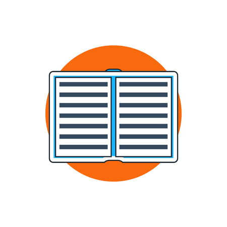 videobook: open book icon Illustration
