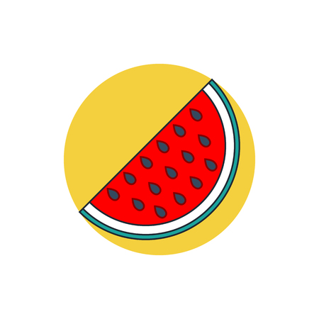 watermelon slice: watermelon slice icon