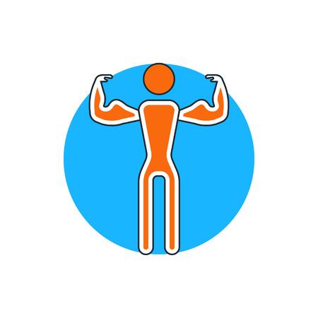 sportman: fitness man icon Illustration