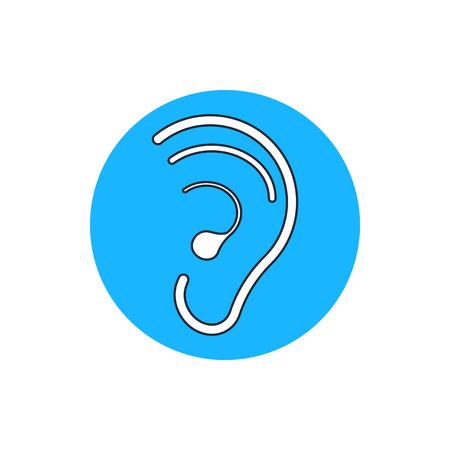 sensory perception: hearing ear icon