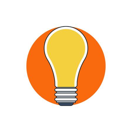 fluorescent lights: outline light bulb icon
