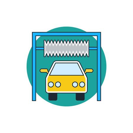 car wash: car wash sign icon