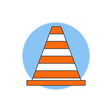 traffic pylon: traffic cone icon