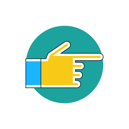 hand pointing: hand pointing finger icon Illustration
