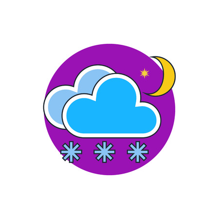meteo: snow cloud moon meteo icon