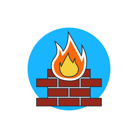 firewall: firewall protection icon Illustration