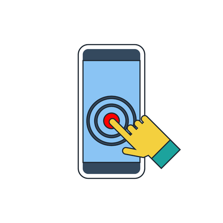 touch screen: Touch screen smartphone icon Illustration