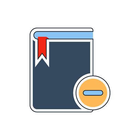 electronic publishing: remove book icon Illustration