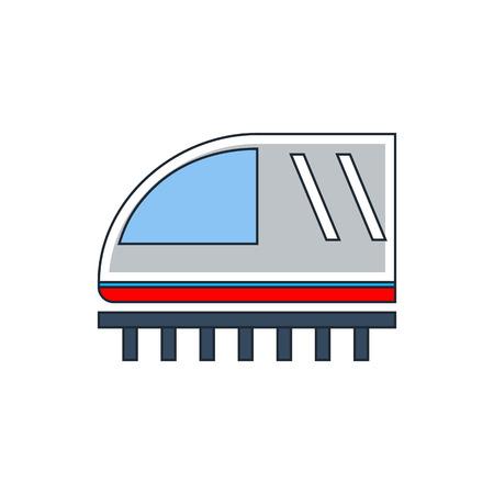 estacion de tren: icono de signo de tren Vectores