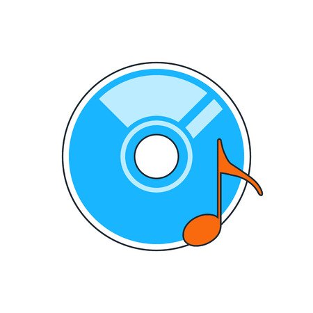 cd r: sound CD or DVD icon Illustration