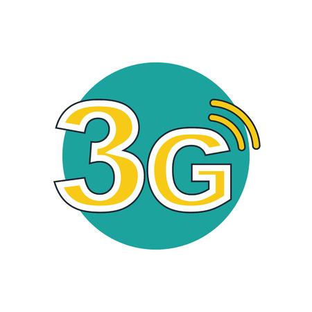 3g 모드 기술 아이콘 일러스트