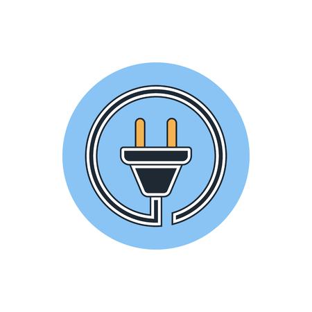 tester: wire plug icon Illustration