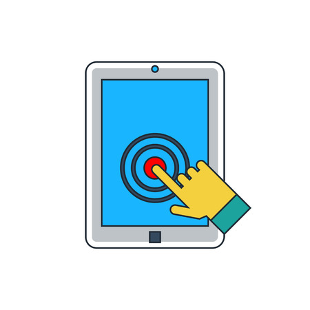 touch screen: tablet touch screen icon Illustration